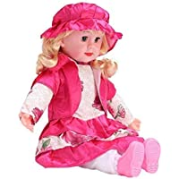 Sakshat™ Cute Looking Musical Singing Sift Doll Big Size Singing Songs Soft Girl Baby Doll Toy (60 cm, Multicolor)
