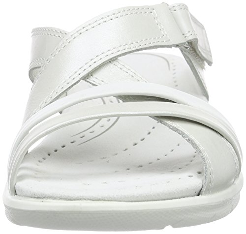 Ecco Ecco Babett Sandal, Sandales ouvertes femme Blanc - Weiß (WHITE/WHITE50874)