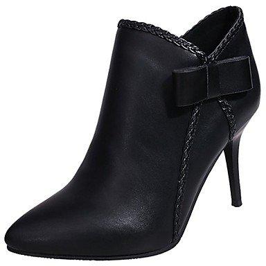 RTRY Scarpe Donna Pu Cadere La Moda Stivali Stivali Stiletto Heel Punta Per Chiusura Lampo Nero Casual Black Us5 / Eu35 / Uk3 / Cn34 US7.5 / EU38 / UK5.5 / CN38