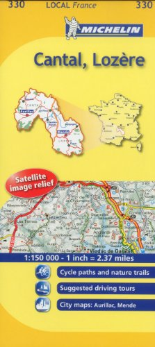 Michelin Map France: Cantal, Lozre 330 par Michelin Travel Publications