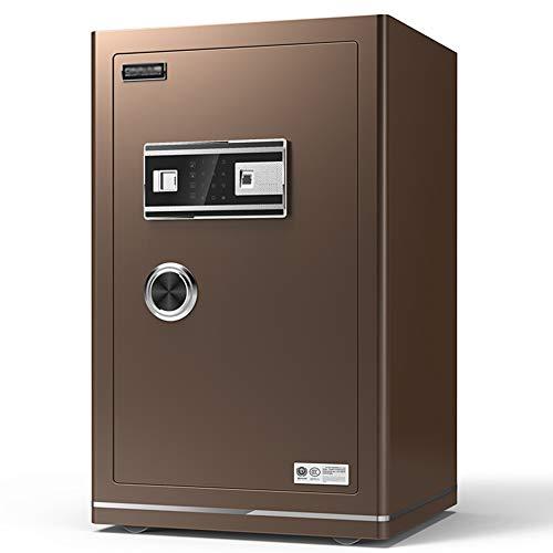 Caja Fuerte de Seguridad,60x42x38cm Reconocimiento de Huellas Dactilares Electrónica de Caja de...