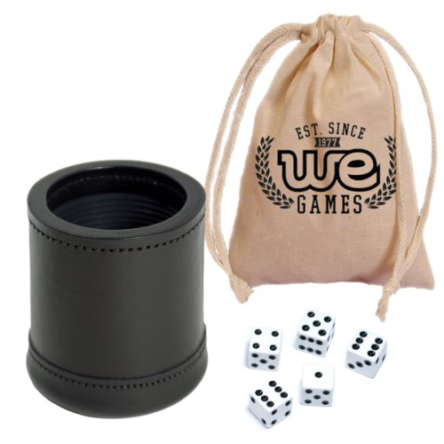we-games-mahogany-leather-professional-dice-cup-with-ribbed-rubber-lining-includes-5-dice-and-cotton
