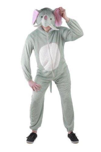 Foxxeo 10030 | Elefantenkostüm Kostüm Elefant Tierkostüm Kostüme Tier Elefantkostüm Gr. M - XXL, (Kostüm Muster Halloween Elefanten)