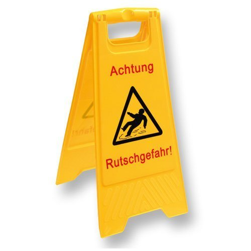 """Warnschild """"Rutschgefahr"""" - 1 Stück"""