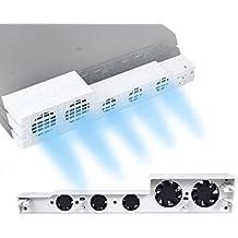 PS4 Pro ventilador de refrigeración el color blanco - ElecGear Glacial White Turbo refrigerador Control De La Temperatura Del Súper USB Cooling Fan Cooler para Sony PlayStation 4 Pro