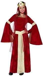 Atosa-15878 Disfraz Dama Medieval, Color rojo, 7 A 9 Años (15878