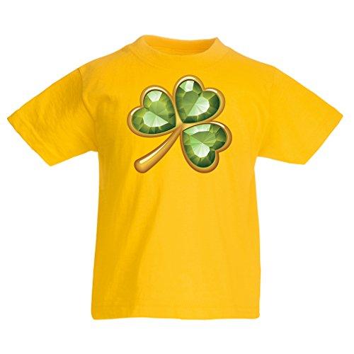 Kinder T-Shirt Irish Shamrock St Patricks Day Clothing (12-13 Years Gelb Mehrfarben)