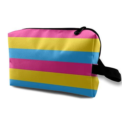 Pansexual Flag Sm_972 Tragbare Reise Make-Up Kosmetiktaschen Organizer Multifunktions Fall Taschen für Frauen