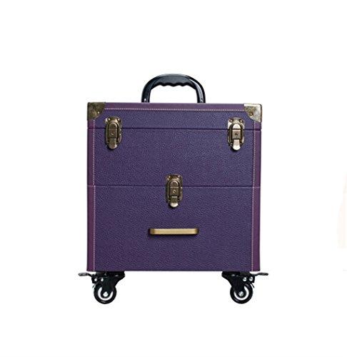 ZBBZ-BAG Coffrets de voyage cosmétiques Boîte de cosmétiques Grand format professionnel de mode, Maquillage de valise Maquillage Boîte de beauté Boîte à outils de polonais à ongles (style : N ° 5)