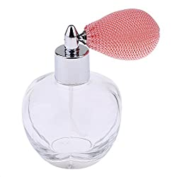 Phenovo Crystal Art Vintage Style Empty Refillable Perfume Bottle with Bottle Tassel Spray 100ml Pink