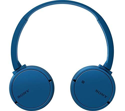 Sony WH-CH500 kabelloser Bluetooth Kopfhörer (Bis zu 20 Stunden Akkulaufzeit, Freisprechfunktion, NFC, schwenkbares Design) blau - 4
