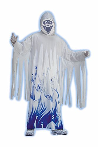 Forum Novelties Halloween Herren Kostüm Geist Gespenst Seelendieb mit Tuch Maske (Gespenst Geist Kostüm)