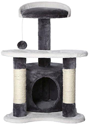 *dibea KB00141, Kratzbaum – Kletterbaum für Katzen (Höhe 65 cm), grau/weiß*