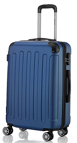 BEIBYE 2045 Hartschale Koffer Kofferset Trolley Reisekoffer Größe XL-L-M in 12 Farben (Pink, XL)