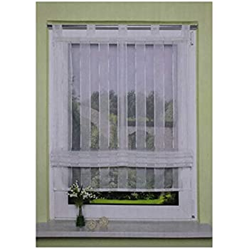 140 x 100 cm H x W white-copper SCHMIDTGARD STOFFE Roman Blind with Loops Roman Curtain Window and Door Curtain Panneaux Voile Approx