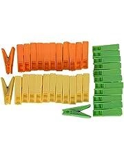 River Plastic Sturdy Cloth Clips, 36 Pieces,Orange, Yellow, & Green,18.5 Cms X 7 Cms X 3 Cms,Plastic