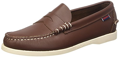 Sebago Dolphin Leather, Mocassini Uomo, Marrone (Brown Elk), 44 EU