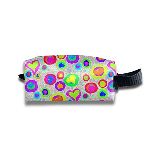 hatz sweeties auf regenbogen speckles_15624 tragbare reise make-up kosmetiktaschen veranstalter multifunktions tasche taschen für unisex ()