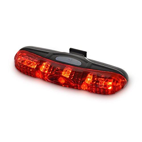 Easydo Fahrrad Rücklicht, 5 Super Helle LED-Fahrradlampe, Wasserbeständige LED Fahrradbeleuchtung,Einfaches Installationssatz-Rotes Fahrradlicht Für Optimale Radfahrensicherheit