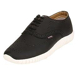 Quarks Mens Black Synthetic Smart Casual Shoes J1123BK-9
