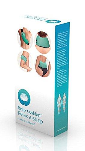 Relax Cushion A-Strap - Masajeador corporal a pilas, 2 intensidades, correa ajustable