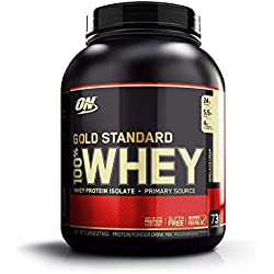 Optimum Nutrition 100% Whey Protéine Gold Standard, Glace Vanille, Whey Isolate, 2,27 kg