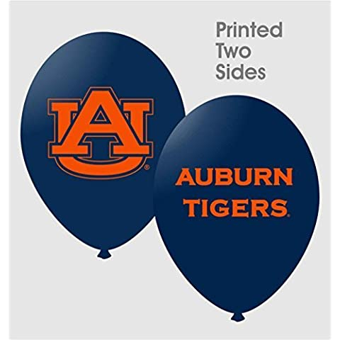 NCAA Auburn Tigers 10-Pack 11'' Latex Party Balloons - Navy Blue by Football Fanatics