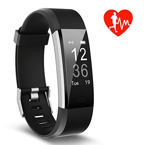 Pulsera de Actividad, Monitor de Frecuencia Cardíaca & IP67 a Prueba de agua Fitness Tracker Reloj Inteligente de Teléfonos con Android iOS, Regalos para Niños Hombre Mujere de Kungber