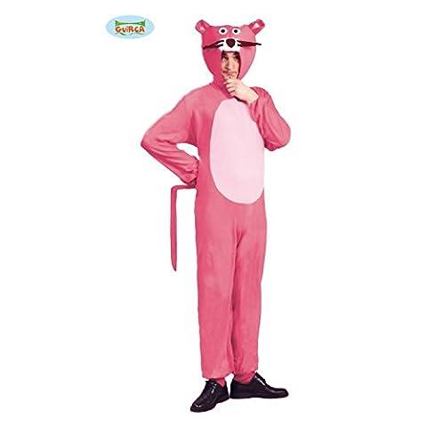 Panther Kostüm für Erwachsene pink Gr. M/L, Größe:M/L (Kostüm Express Für Erwachsene)