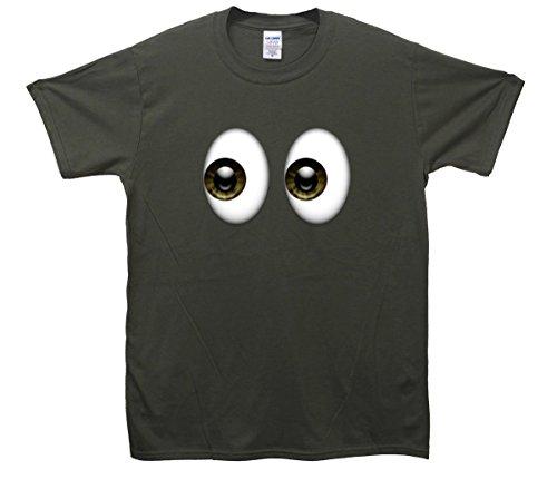 Shifty Eyes Emoji T-Shirt Khaki
