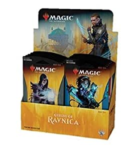Magic The Gathering MTG-GRN-TBD-EN Guilds of Ravnica Theme Booster Display of 10 Packets, Multi