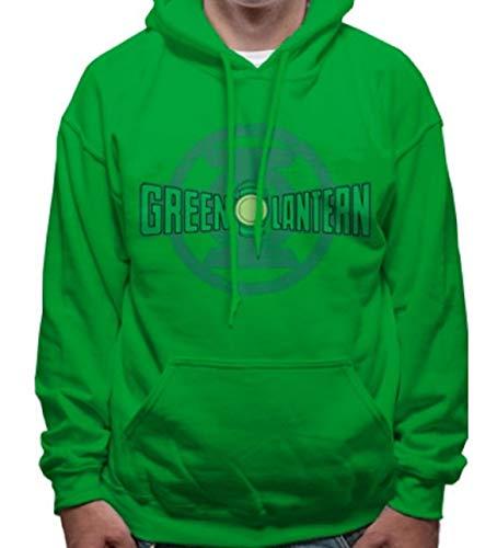 Loud Distribution Offizielles Green Lantern-Logo & Symbol-Unisex Pullover Hoodie Grün Grün Green Lantern Symbol Hoodie