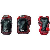 Roces Ventilat Protezioni Skates, 3 Pezzi, Rosso/Nero, M Junior