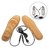 Beheizte Einlegesohlen, USB wiederaufladbar, elektrische Thermosohlen, zugeschnitten, Fußwärmer für Herren und Damen, Schuhpolster für Radfahren, Wandern, Camping, Jagd