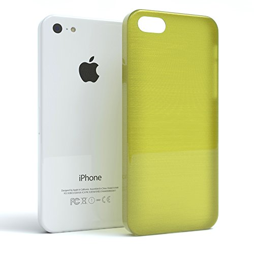 "Apple iPhone 5C Hülle, EAZY CASE Ultra Slim Cover ""Clear"" - Premium Handyhülle Transparente Schutzhülle, Smartphone Case in Transparent Brushed Grün"