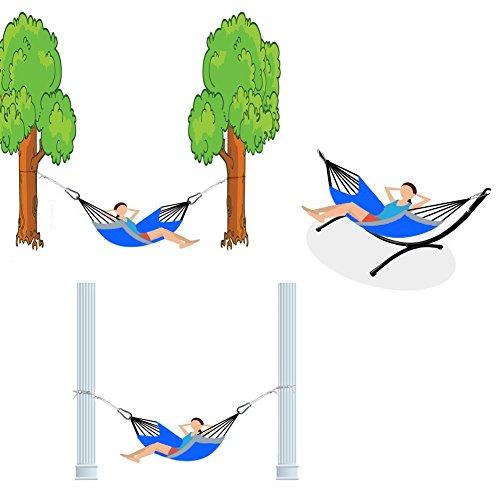 Hängematte,IntimaTe WM Heart Tragbar Parachute Haengematte Hängesessel, Hängematte Nylon, 275*140CM - 4