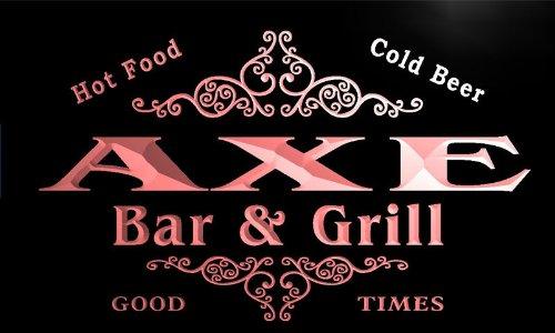 u01718-r AXE Family Name Bar & Grill Cold Beer Neon Light Sign Barlicht Neonlicht Lichtwerbung -