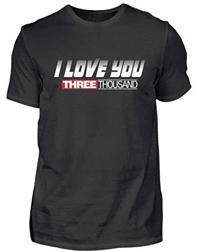 ve You 3000! - Ich Liebe Dich Mal 3000 - Süßes Design Für Damen, Herren Und Kinder - Herren Premiumshirt -M-Schwarz ()
