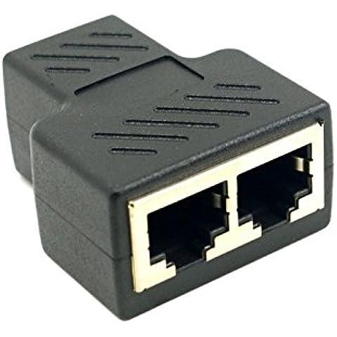 Goliton? Cat6 RJ45 8P8C Enchufe al adaptador de cable de doble dual RJ45 Patch divisor de Ethernet