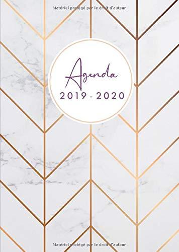 Agenda 2019-20: Agenda 18 mois journalier 2019-20 - format A5 - juillet 2019 à décembre 2020, motif motif abstrait marbre par Papeterie Collectif