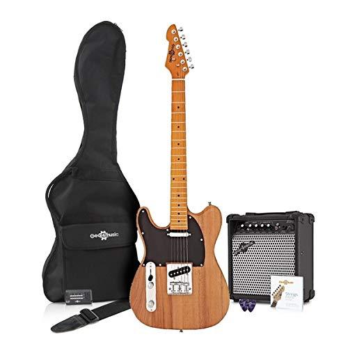 Paquete de Guitarra Eléctrica Knoxville para Zurdos + Amplificador Natural