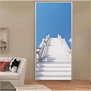 bnkbg Wandaufkleber 3D Stereo Tür Aufkleber Persönlichkeit Dekoration Tür Aufkleber 77 * 200 cm