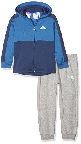 the latest 657e5 629b9 adidas I E Lin Fzh FL Chándal, Unisex niños Azul Blanco, 98 (2