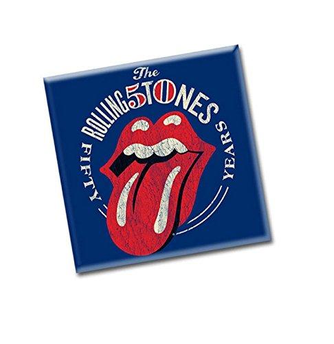 The Rolling Stones Kühlschrankmagnet 50th Anniversary Vintage Nue 76mm x 76mm