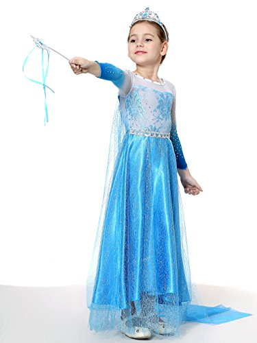 Pretty Princess Topstar Distributions Mädchen Schneekönigin Party Outfit Kostüm Prinzessin Cosplay 5-6 ()