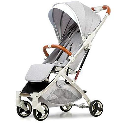 Wp.bewa Baby Kinderwagen Buggy Klappbarer Verstellbarer Tragbarer Leichter Reisewagen Mit Anti-Schock-Federn Und 360-Grad-Lenkrädern,Bis Zu 15 Kg Für Neugeborene,B