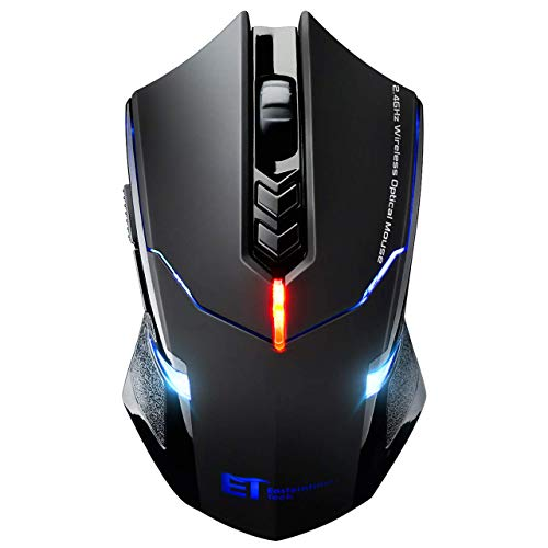 TOPELEK Laptop Maus, Mute-Maus 2.4 G 2400 DPI, 7 Tasten, Drahtlose Maus Silent  Schnurlos Funkmaus Gaming Maus Funk Wireless-maus Optical Business Mouse Mäuse Für PC Laptop iMac Macbook, Office, Home
