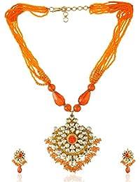 Padam Shree Gold Plated Multi-Strand Necklace Set For Women (Padam Shree_ 185)