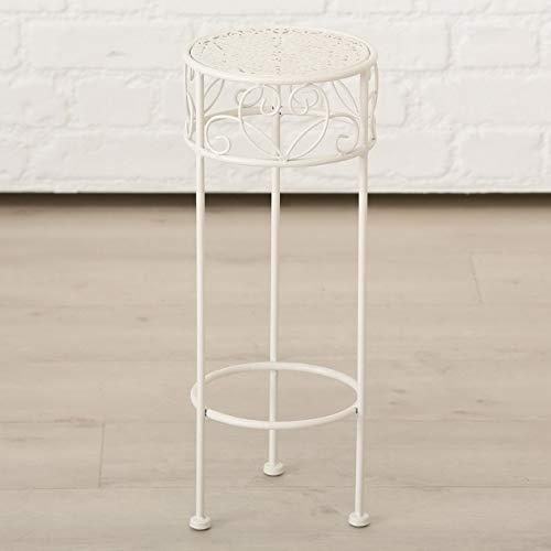Meinposten. Hoher Beistelltisch weiß Metall Telefontisch Pflanzentisch Blumenständer Tisch (Kleiner Tisch: 20 x 50 cm)