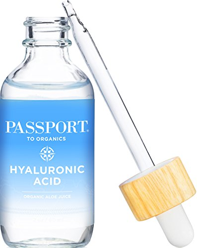 Hyaluronic Acid Serum - Organic & Vegan - 100% Pure of a 1% solution 2oz by Passport to Organics